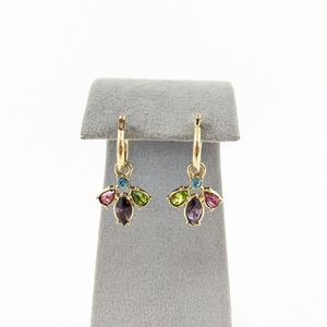 Jewelry - Vtg NRQ Stamped Convertible Earrings